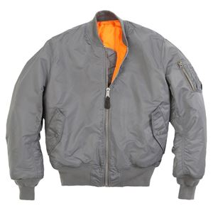 Picture of Alpha Industries Men's MA-1 Bomber Flight Jacket Gun Metal