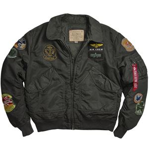 Picture of Alpha Industries CWU Pilot Flight Jacket Sage/Black