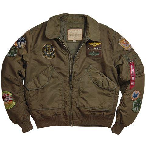 Picture of Alpha Industries CWU Pilot Flight Jacket Sage/Brown