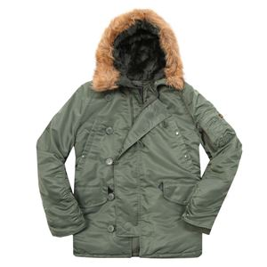 Picture of ALPHA INDUSTRIES N-3B PARKA SAGE GREEN