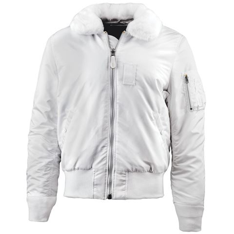 81efd2f4acc Picture of Alpha Industries Slim B-15 Flight Jacket White