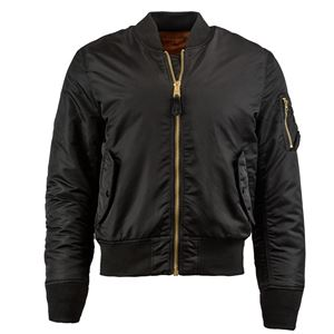Picture of Alpha Industries Men's Slim Fit MA-1 Bomber Flight Jacket Black