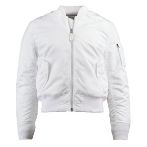 Picture of Alpha Industries Men's Slim Fit MA-1 Bomber Flight Jacket White