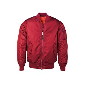 Picture of ALPHA INDUSTRIES WOMEN'S MA-1 FLIGHT REVERSIBLE BOMBER NYLON JACKET COMMANDER RED