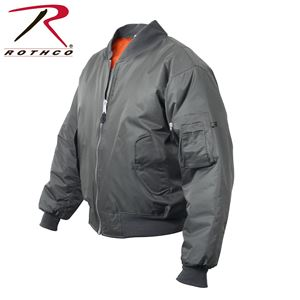 Picture of Rothco Air Force MA-1 Reversible Bomber Coat Flight Jacket Gun Metal Grey