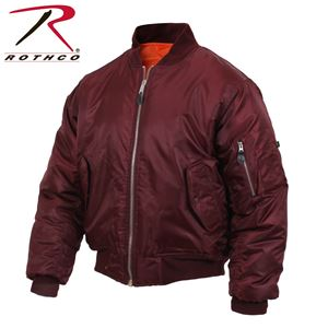 Picture of Air Force MA-1 Reversible Bomber Coat Flight Jacket Maroon