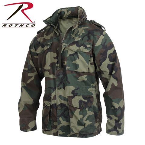 Picture of ROTHCO VINTAGE LIGHTWEIGHT M-65 JACKET WOODLAND CAMO