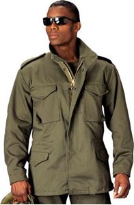 Picture of ROTHCO M-65 FIELD JACKET OLIVE DRAB, BLACK
