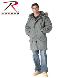Picture of Rothco Vintage N-3B Military Parka Olive Drab, Black # 9467