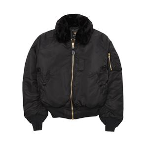 Picture of Alpha Industries Slim B-15 Flight Jacket Bomber Black