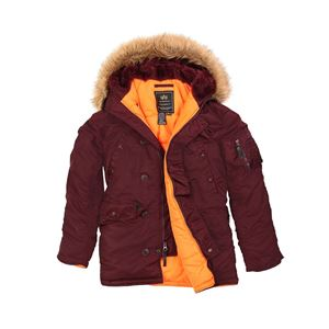 Picture of ALPHA INDUSTRIES SLIM FIT N-3B PARKA MAROON/ORANGE