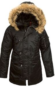 Picture of ALPHA INDUSTRIES WOMEN N-3B GEN I PARKA BLACK,REPLICA BLUE,COMMANDER RED,REPLICA GREY