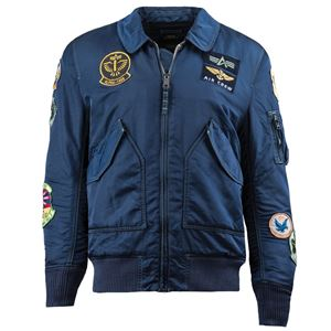 Picture of Alpha Industries CWU Pilot Flight Jacket Sage/Replica Blue