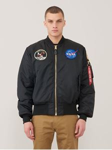 Picture of Alpha Industries Apollo MA-1 Flight Jacket Bomber Black, Commander Red