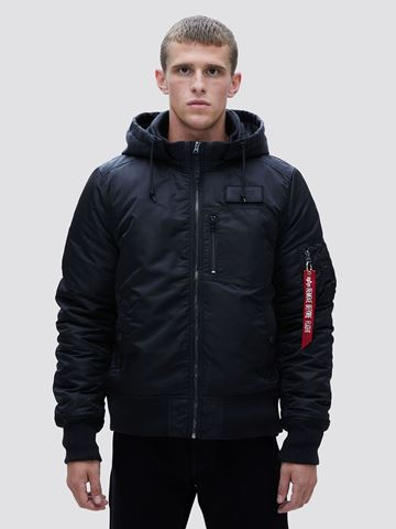 Picture of Alpha Industries MA-1 Hooded Rib Flight Jacket/Bomber