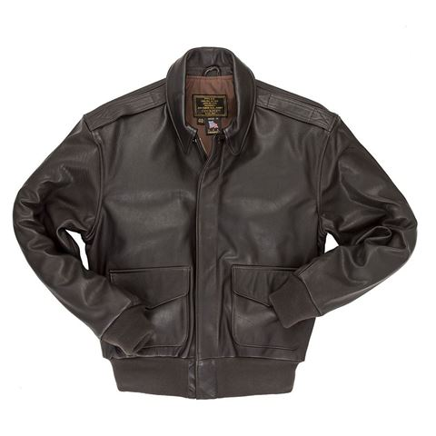 Picture of COCKPIT USA REISSUE A-2 JACKET BROWN (LONG) USA MADE