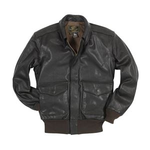 Picture of Cockpit USA U.S.A.F. 21st. Century A-2 Jacket Black, Brown (Long) USA MADE