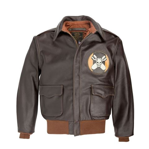 Picture of Cockpit USA Aces & Eights A-2 Flight Jacket Brown Made in USA