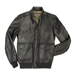 Picture of COCKPIT USA LIGHTWEIGHT PILOT A-2 JACKET BLACK USA MADE
